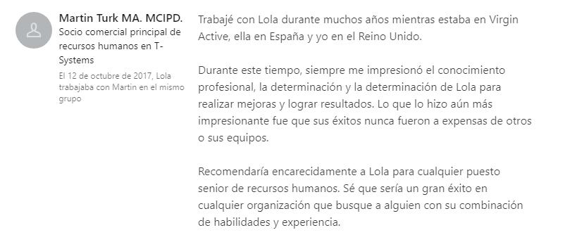 recomendaciones profesionales linkedin